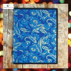 ARTESANIA - INDIA  | Handmade File Folder: Blue Paisley / Rs.150