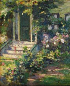 """Gloucester Doorway,"" Agnes Richmond, oil on canvas, 12 x 10"", Cincinnati Art Galleries."