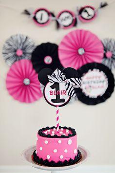 Minnie Mouse Birthday Smash Cake