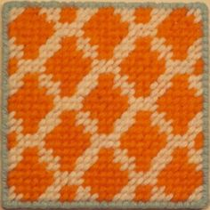 Needlepoint Coaster Kit For Beginners In Diamonds Pattern on Etsy, $25.00