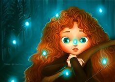 Aww little Merida possible the most adorable disney child after punzie corse