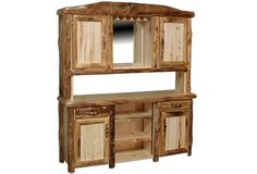 Bar Buffet and Hutch in Log Front (72″W