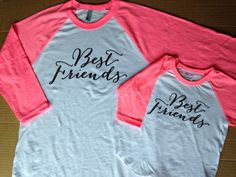 Best friends shirts - real GLITTER, Big sister shirt, mommy and me matching shirts, new mommy shirt, new baby shirt