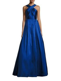 ML MONIQUE LHUILLIER Halter Ball Gown. #mlmoniquelhuillier #cloth #gown