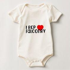 I Rep Falconry Sports Designs Baby Bodysuit - customizable diy