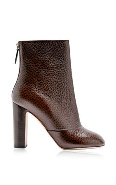 Printed Textured-Leather Ankle Boots by Rochas Now Available on Moda Operandi