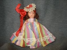"NASB NANCY ANN Storybook Doll #22 Alice Sweet Alice ~ 5-1/2"" Bisque Doll Stiff Legs by PastPossessionsOnly on Etsy"