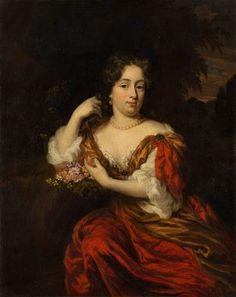 Nicolaes Maes, Portret van Catharina Dierquens (1664-1715), c. 1682