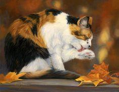Канадская художница Lucie Bilodeau и ее кошки: подборка из 50 картин - Ярмарка Мастеров - ручная работа, handmade