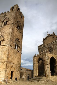 Erice, province of Trapani , Sicily region Italy .