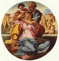 Tondo Doni - Michelangelo Buonarroti - 1508 - Galleria degli Uffizi, Firenze - #michelangelo #arte #galleriadegliuffizi