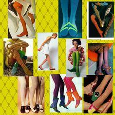 Medias y Zapatos años 60