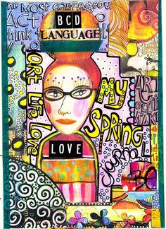 cover of my spring art journal #artjournal