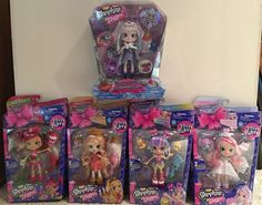 Shopkins Shoppies Dolls Lot of 5 Season 7 and Gemma Stone Special Edition #Moose