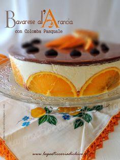 Bavarese all'arancia con colomba Pasquale