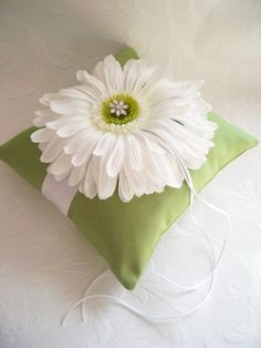 Lime Green and White Gerbera Daisy Wedding by creations4brides