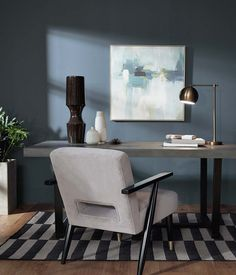 BEHR Color Trends 2021 Calm Zone Interior Color Inspiration Calm Zone: Nurturing blues and greens continue to trend alongside our society's desire for self-care and wellbeing, with colors like Jojoba N390-3 and Voyage PPU13-07 creating calm, restorative spaces. #colortrends2021 #color2021
