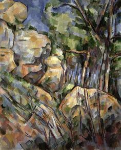 Rocks near the Caves below the Chateau Noir, by Paul Cézanne