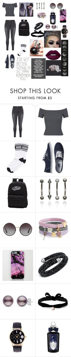 """White Noise Mind"" by sweetheart-the-moonbear ❤ liked on Polyvore featuring Miss Selfridge, Vans, Dolce&Gabbana, Marc Jacobs, Swarovski, Aamaya by Priyanka, PENHALIGON'S and Lime Crime"