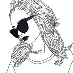 Find images and videos about grunge, drawing and outlines on We Heart It - the app to get lost in what you love. Tumblr Drawings, Tumblr Art, Tumblr Girls, Cartoon Drawings, Art Drawings, Simple Drawings, Tumblr Outline, Outline Art, Girl Outlines