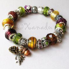 Autumn Treasures Deluxe European Charm Bracelet by xanaducharms