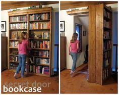 Hogwarts-Style Secret Door Bookcase For Book Lovers!