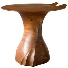 Unique Low Table in Stack-Laminated Walnut by Wendell Castle, New York, 1972
