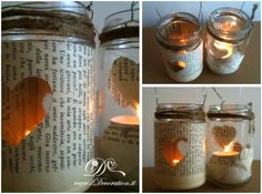 Lanterne | DIY lanterns with pages from our favorite books