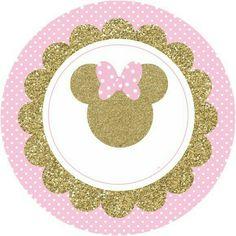 DIY Baby Shower Invitations for Girls Minnie Mouse 1st Birthday, Minnie Mouse Baby Shower, Minnie Mouse Party, Mouse Parties, Minnie Mouse Rosa, Minnie Mouse Stickers, Pink Minnie, Minnie Golden, Theme Mickey