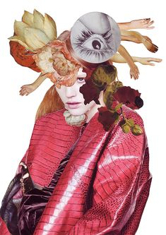An artistic collaboration with stylist Kathi Kauder and photographer Sabrina Theissen. For these mixed media collages Ashkan Honarvar used Vanitas symbols in a search for the equilibrium between li. Fashion Illustration Collage, Illustration Arte, Fashion Collage, Fashion Art, Fashion Illustrations, Fashion Editor, Vanitas, Photomontage, Gouache
