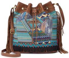 Unionbay sequin patchwork bucket crossbody bag