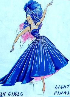 Cabaret, Fashion Illustrations, Fashion Sketches, Showgirl Costume, Disney Princess Fashion, World Tv, Purple Fashion, Showgirls, Costume Design
