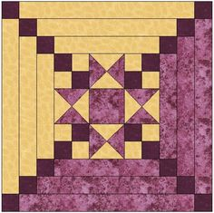 Star Center Log Cabin Quilt Block Pattern Download  Basic Skills Necessary:     Basic Cutting and Sewing of Fabric     Basic knowledge of putting quilts together  Pattern Description: Maple Leaves are
