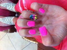 Fun vacation nails!