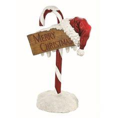 CANDY CANE MERRY CHRISTMAS  STATUE REG116