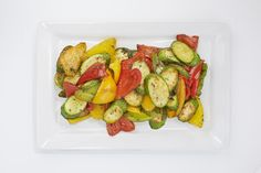 Fork buffet side - Roasted courgettes & peppers (v)