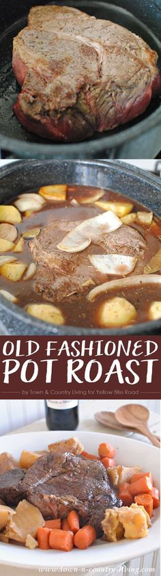 Old Fashioned Pot Roast - An easy and delicious comfort meal recipe
