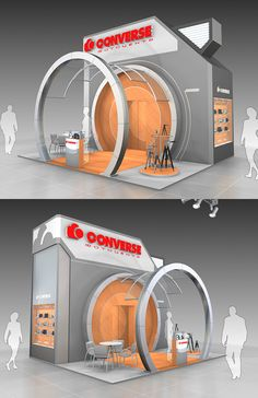Converse exhibition stand on Behance