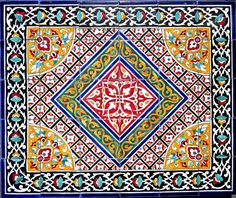 DECORATIVE PERSIAN TILES Persian design mosaic by tunisiandecor, $330.00