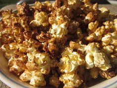 Cinnamon spice brown sugar popcorn--Baseball Popcorn (easy--shake in a bag, etc.)