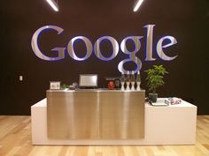 Jeremy Joslin from Google posted a picture of a new reception desk that was recently remodeled at Google's headquarters in Mountain View, California.  I should note, I don't think this is the main rec