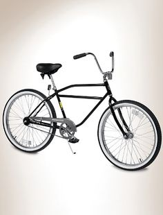 """Worksman® Men's Standard Cruiser Bicycle    Item # X1938    325-lb. stationary weight capacity*  classic American design frame with curved top tube  ergonomic upright handlebars  single-speed coaster foot brake for sure stops  91/2""""-wide, thickly padded comfort seat  vintage 26""""d x 2.125""""w whitewall tires  easy assembly instructions included  Made in USA."""