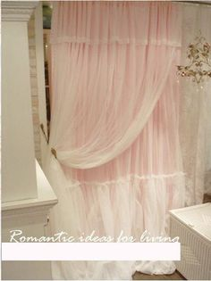 Dreamy pink ruffle curtains...