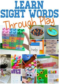 Hands-On Sight Word Activities via @lifeovercs