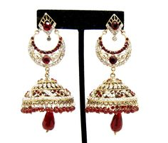 Checkout our #awesome product Imitation Designer Victorian Zhumka Bollywood Earring / AZERVE4006-GRD - Imitation Designer Victorian Zhumka Bollywood Earring / AZERVE4006-GRD - Price: $95.00. Buy now at http://www.arrascreations.com/imitation-designer-victorian-zhumka-bollywood-earring-azerve4006-grd.html