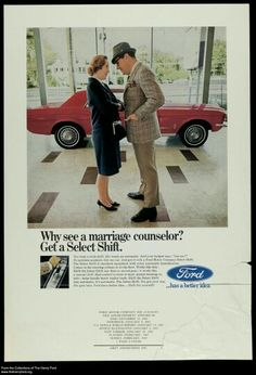 Ford Mustang 'Select-Shift' advert.