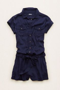 Aerie Military Romper , Navy | Aerie for American Eagle