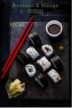 Vegan Avocado & Mango Sushi