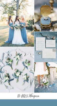 Niagara Blue Wedding Inspiration Board