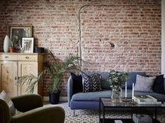 Un appartement suédois en bleu et briques - PLANETE DECO a homes world